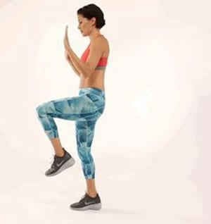 Tips 10 Workout To Tone Your Butt At Home - Single-Leg Front Raises