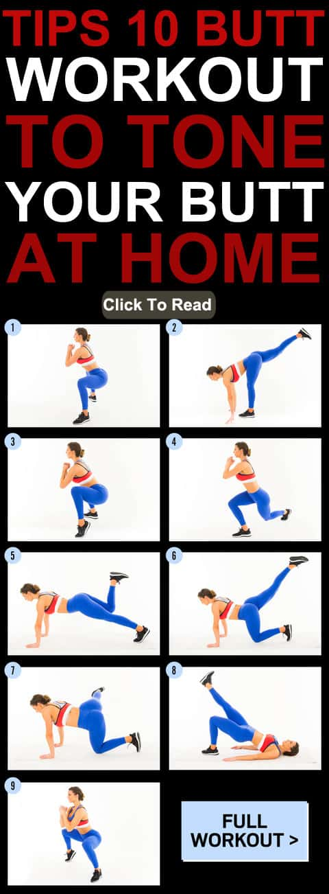 Tips 10 Workout To Tone Your Butt At Home
